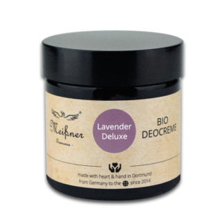 Organic deodorant Lavender-Deluxe, 75g, Brown glass crucible