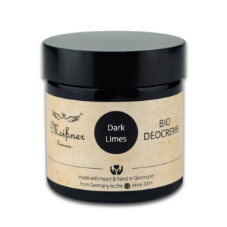 Organic deodorant Dark-Limes, 75g, Brown glass crucible