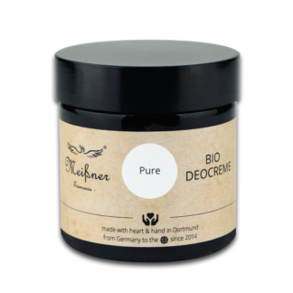 Organic deodorant Pure, 75g, Brown glass crucible