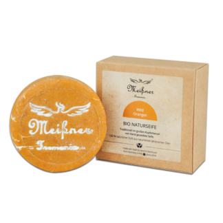 Organic natural soap Wild-Oranges - 140g in folding box - Meißner Tremonia