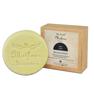 Organic natural soap Dark Limes - 140g folding box - Meißner Tremonia