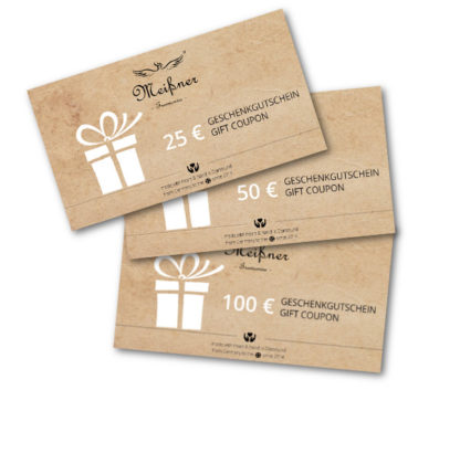 Gift certificate collection